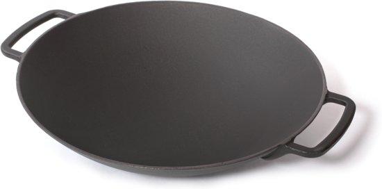 Gietijzeren wok mat zwart, 35cm - Sürel