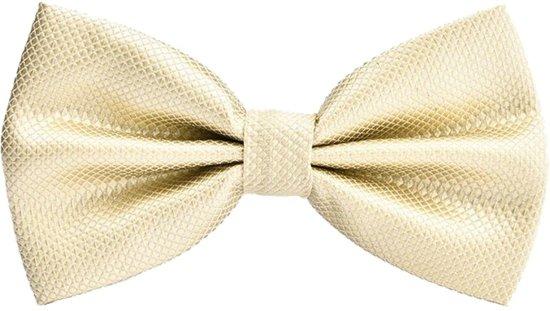 Fako Fashion® - Kinder Vlinderstrik - Vlinderdas - Wafel - 10cm - Beige