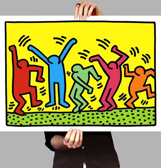 Poster Pop Art Keith Haring - Happy People