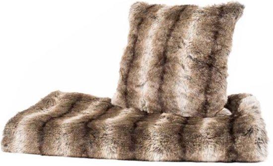 Plaid Van Echt Bont.Bont Plaid Grizzly Fake Fur 150 X 170 Cm