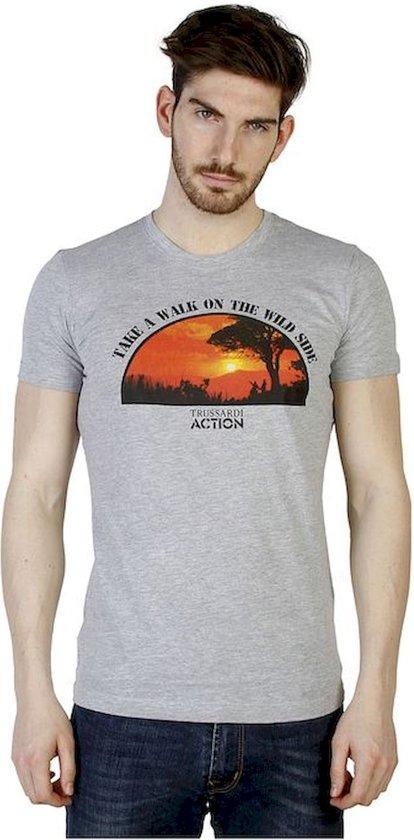 Heren T-shirt van Trussardi - grijs