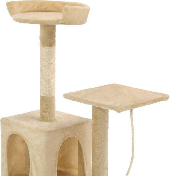 vidaXL Kattenkrabpaal met sisal krabpalen 120 cm beige