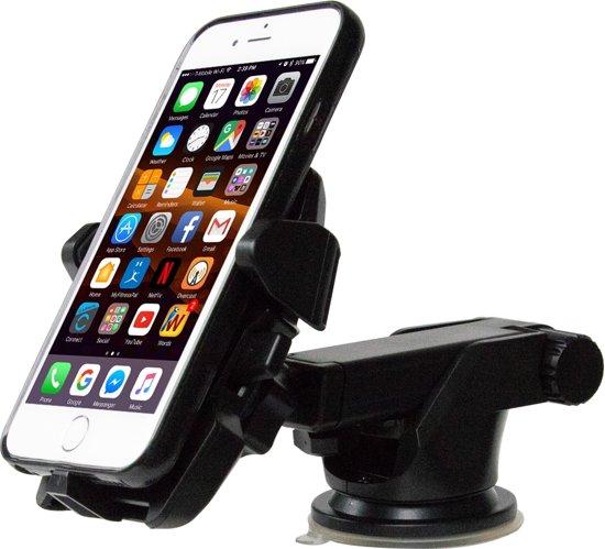 MMOBIEL Uitschuifbare Autohouder met Zuignap Bevestiging. Past op elke Smartphone! Heeft een 180 graden verstelbare/draaibare arm.