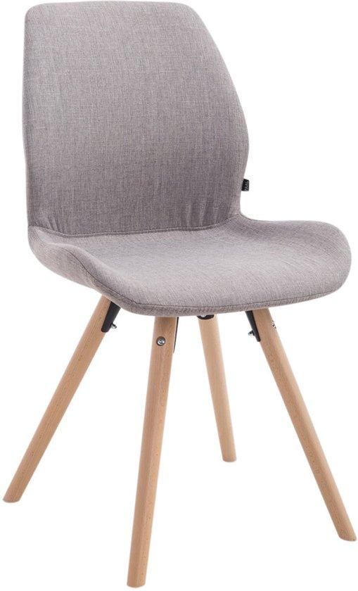 Clp Perth - Bezoekersstoel - Stof - grijs kleur onderstel : rond natura