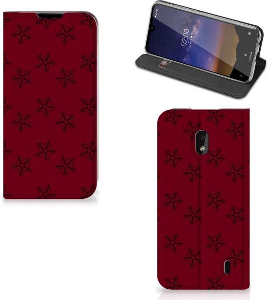 Nokia 2.2 Hoesje met Magneet Sterren