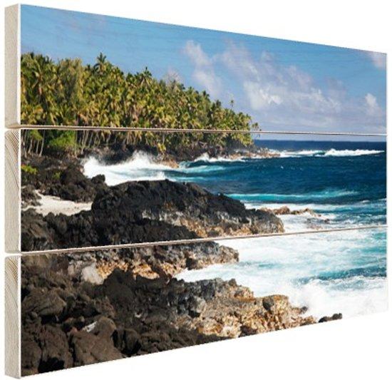 FotoCadeau.nl - Lavakust in Oceanie Hout 80x60 cm - Foto print op Hout (Wanddecoratie)