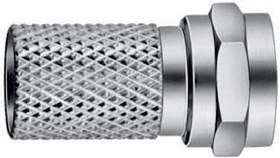 F-Connector 7.0 mm Male Metal Silver