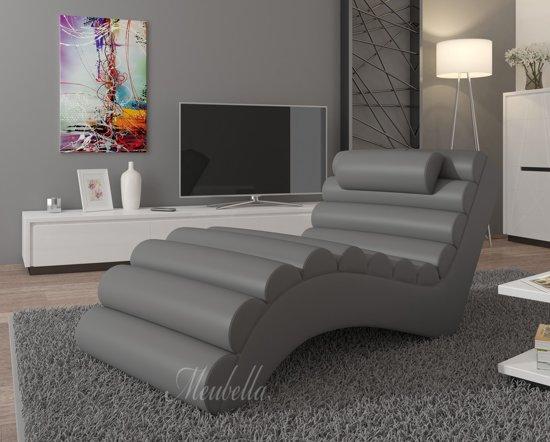 Chaise Longue Leer : Bol chaise longue mason grijs leer