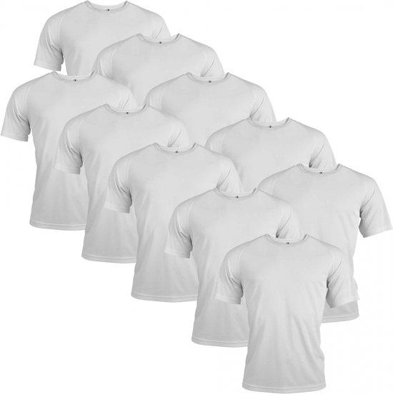 S Functioneel Stuks Polyester 10 SportshirtWit Maat 0X8OknwP