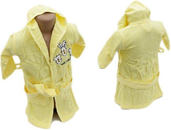 cf7efbdd344 Kinderbadjas Met Capuchon 86/92 Teddybeer Geel | Zachte Badcape Voor Baby's  En Kinderen | Baby En Kind | Mijn Eerste Kraamcadeau Babyshower| Hooded  towel ...