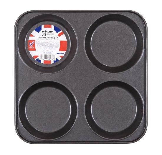 Wham Essentials Bakvorm - Voor Quiche en Yorkshire Pudding - Voor 4 Stuks