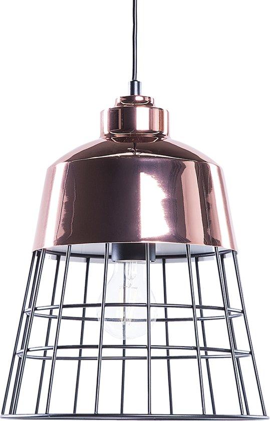 bol beliani monte hanglamp metaal koper