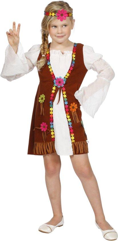 Flower power jurk voor meisje maat 140