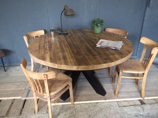 Ronde Eethoek Tafel : Bol ronde eettafel met matrixpoot cm maatwerk