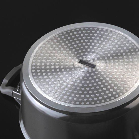 Berghoff Virgo kookpan met deksel 28 cm donkerbruin