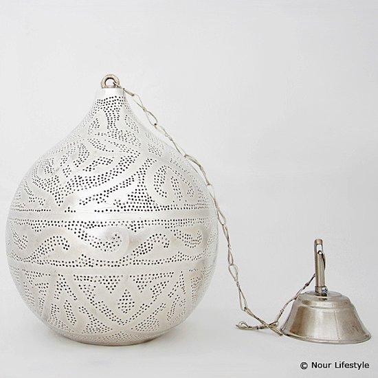 Nour Lifestyle Arabische hanglamp Haifa met Oosters patroon - maat M