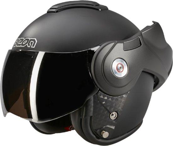 Beon B702 Reverse - Mat Zwart - Motorhelm  - XS /