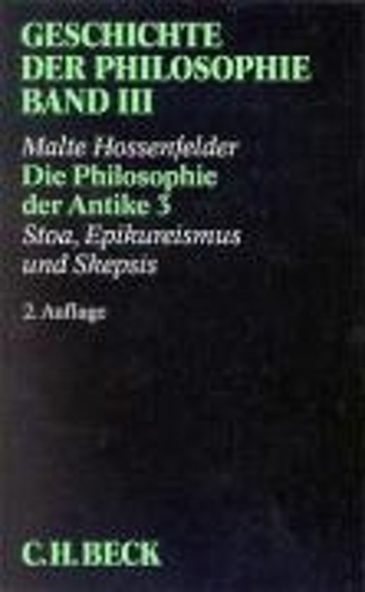 Die Philosophie der Antike 3