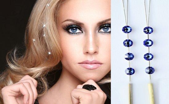 JwelU Haarkristallen -  Sapphire - BB1-12