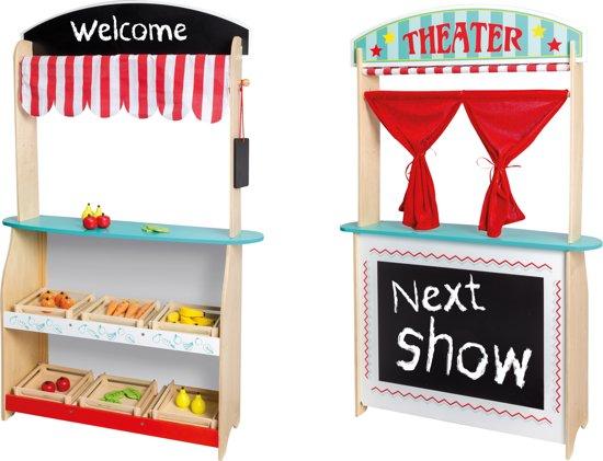 Jouéco 2 in 1 Theater en winkel met Accessoires
