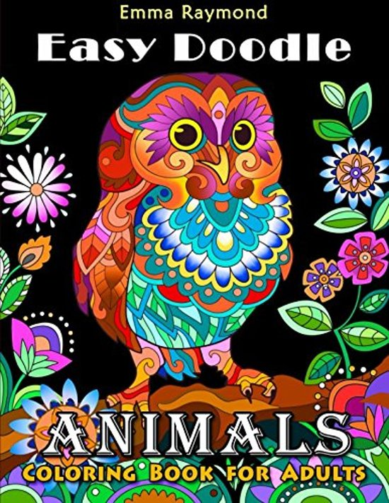 Afbeelding van Easy Doodle Animals Coloring Book for adults
