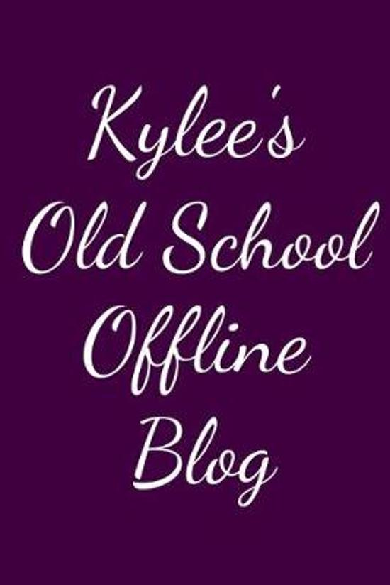 Kylee's Old School Offline Blog: Notebook / Journal / Diary - 6 x 9 inches (15,24 x 22,86 cm), 150 pages.