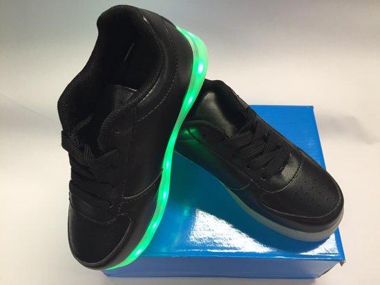 Sneakers Met Licht : Bol led sneakers met instelbaar licht kleur zwart maat