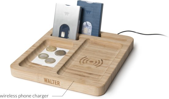 Walter Bamboo Dock met Wireless Charger