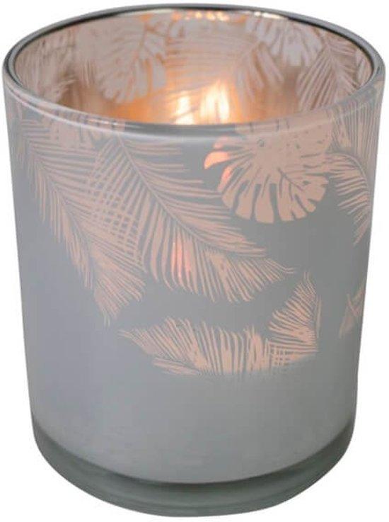Waxinelichthouder Jungle Melkwit (8 x 7 cm)