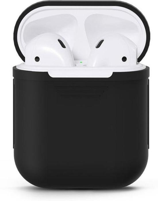 KELERINO. Siliconen hoesje voor Apple Airpods Softcase - Zwart