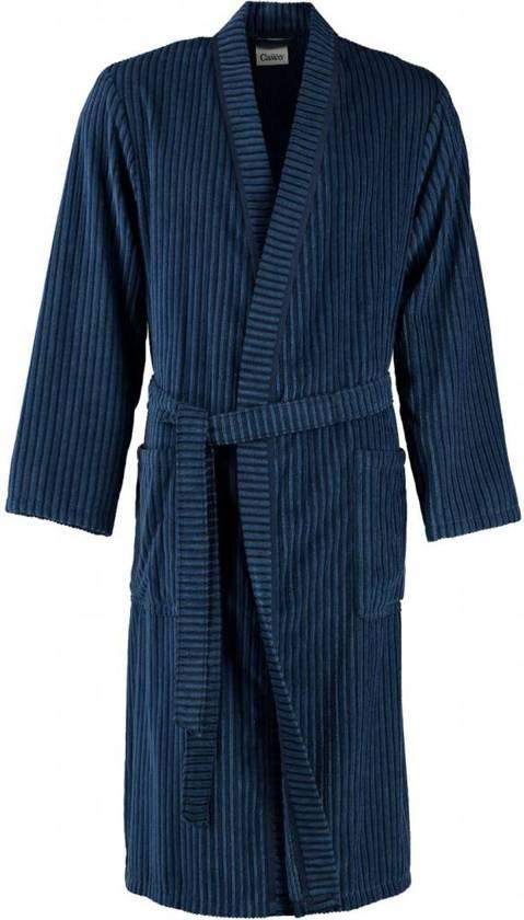 f16ee8b1f93 bol.com | Cawö heren badjas velours blauw maat 48
