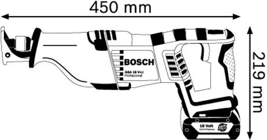 Bosch GSA 18 V-LI (zonder accu)