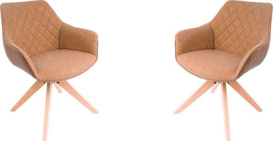 Cognac Kleur Stoel : Nieuwe stoelen voor euro kleur cognac p u te koop