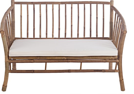 Natural Collections - Bamboe bank inclusief kussen - 120 x 70 x 80 cm
