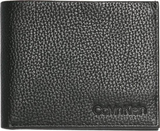 15426542195 Calvin Klein - Essential leather - slimfold 6CC - heren portemonnee - black
