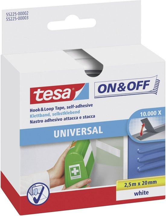Tesa-Velcro Klittenband 55225-WI - 20 x 2500 mm - Wit