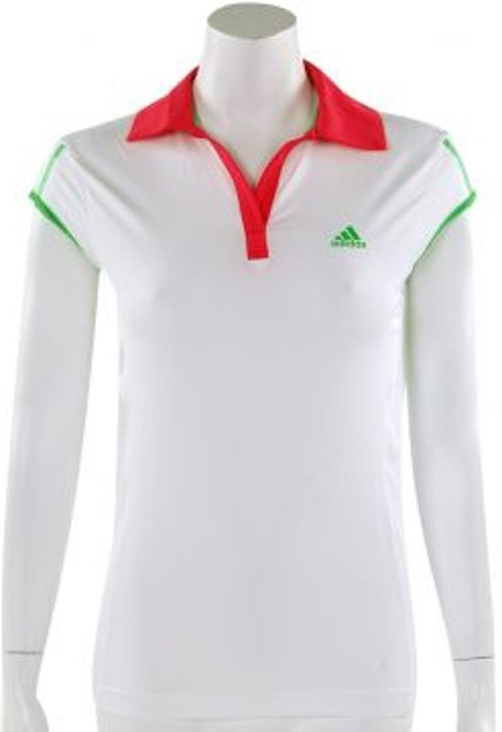 adidas Barr Cap Polo - Sportpolo - Kinderen - Maat 176 - White;Fresh Pink;Green