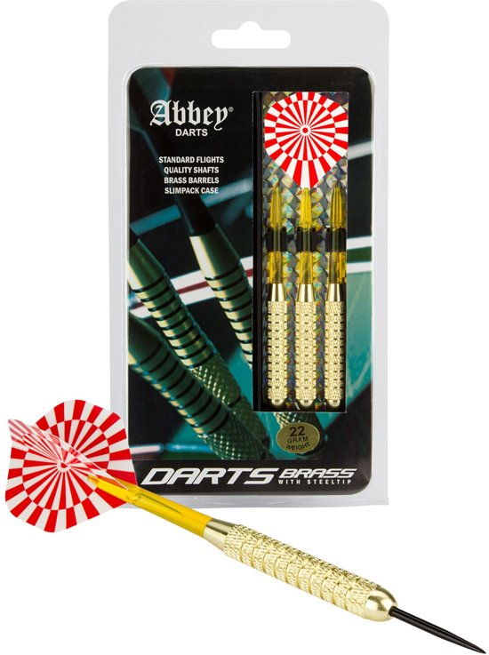 Abbey Darts Darts - Brass - Rood/Wit - 22