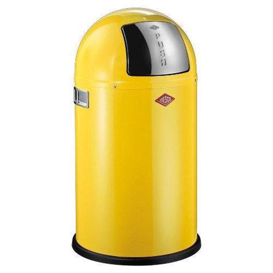 Wesco Pushboy Aanbieding.Wesco Pushboy Prullenbak 50 L Lemon Yellow