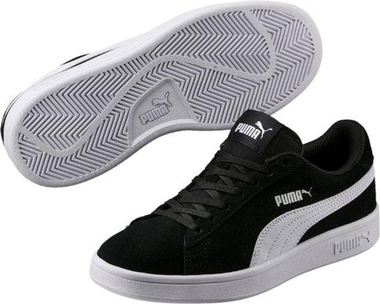 PUMA Smash v2 SD Jr Kinderen Sneakers - Puma Black-Puma White - Maat 38.5