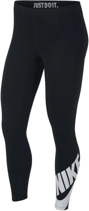 Nike Sportswear Leg-A-See Dames Sportlegging - Black/White - Maat M
