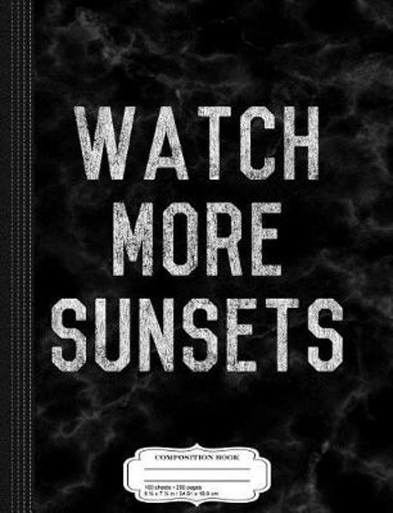 Vintage Watch More Sunsets Composition Notebook