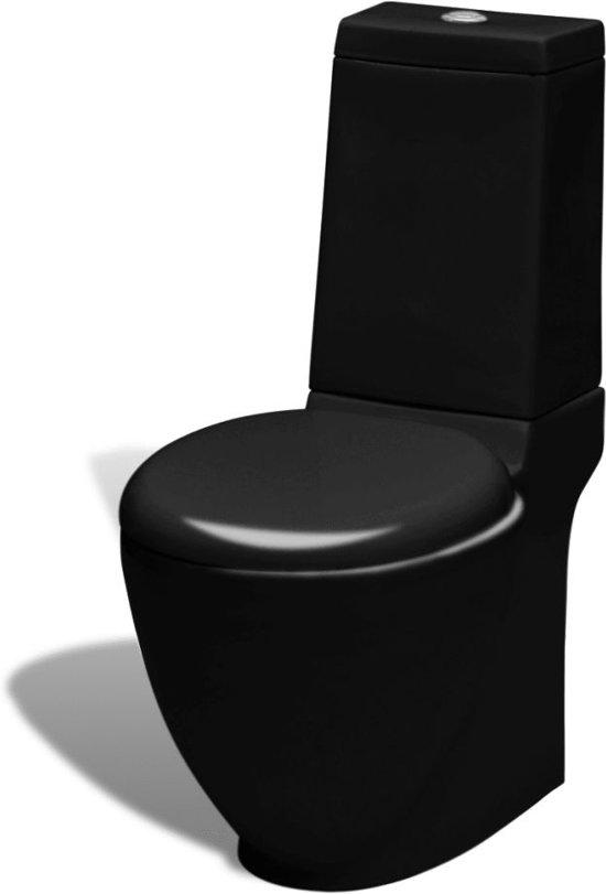 vidaXL Keramieken W.C. (zwart)
