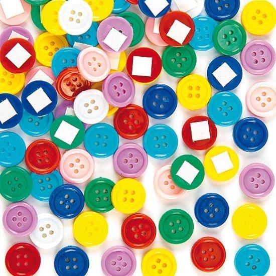 Zelfklevende knutselknopen - creatieve knutselpakket voor kinderen voor het naaien breien en maak je eigen decoraties (200 stuks per verpakking)