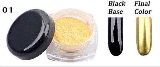 Mirror Chrome powder Spiegel pigment poeder voor gelnagels gel nagellak Nailart, goud