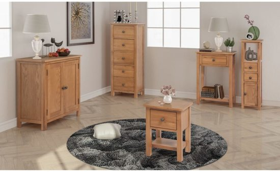 Woonkamer Meubel Set : Bol vidaxl woonkamer meubelset massief eikenhout delig