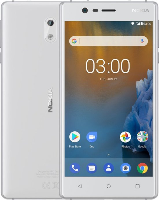 Nokia 3 - 16 GB - Wit/zilver