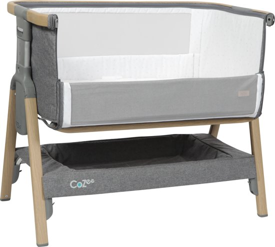 Tutti Bambini Cozee Bedside Wieg Oak Charcoal