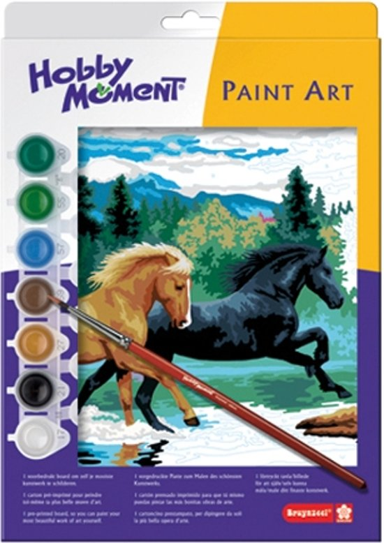 "Bruynzeel schilderen op nummer ""Paarden"""