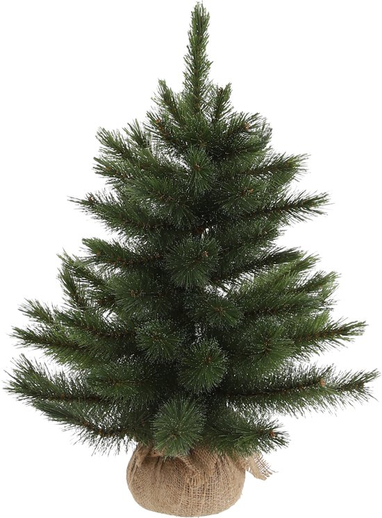 Triumph Treekerstboom W/Burlap Forest Frosted H60D46 Groen Tips 64